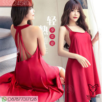 Baju Tidur Sexy Dress Big Size | Sexy Lingerie Satin Big Size SS2245RD
