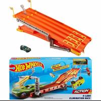 HOT WHEELS 4 lane elimination race track set/mainan hot wheels ORI