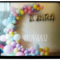 Dekorasi balon ulang tahun   Balondekorasi Bentuk L  Boking 200,000