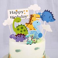 9 Pcs Topper Kue Ulang Tahun Tema Dinosaurus Hiasan Kue Dinosaurus