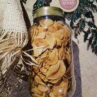 Bawang putih goreng 100gr Ori/pedas homemade DapurSusan tanpa tepung