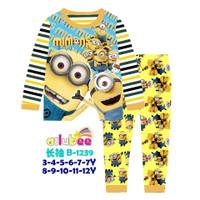 Baju Tidur Minion Anak Impor size 3-12tahun