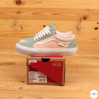 Sepatu Vans Old Skool Pro Washout Peach Blue BNIB Premium Original