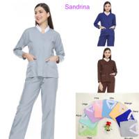 Baju seragam suster lengan panjang/ seragam baby sitter/seragam klinik