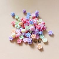 Manik Bunga kcl w | bahan aksesoris kalung gelang handmade craft