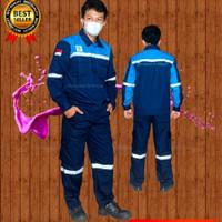 setelan baju kerja proyek werpack kombinasi kemeja wearpack safety