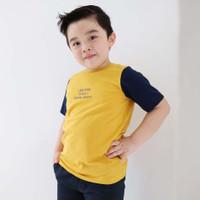 Terbar Baju Anak Keren Adem Warna Kuning Dari LilyAndClark KLC18 - XS