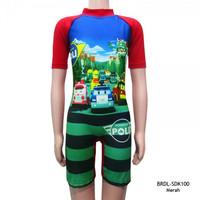 Baju Renang Anak Usia 6-11 Th Karakter Robocar Poli BRDL-SDK100