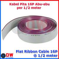 Flat Cable / Kabel Pita 16p Abu - Abu IDC 16 pin @ 0,5 Meter
