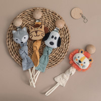 Babyboo Animal Cotton Baby Pacifier Clip