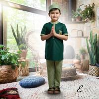 Set Koko Turki Baju Lebaran Anak laki-laki muslim ECERAN - Size 4, Motif E