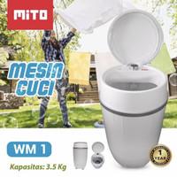 GARANSI RESMI Mesin Cuci Mito 3.5kg WM-1 Washing Machine Portable
