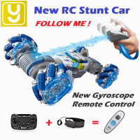 RC Gesture AI Follow Stunt Action 4WD Car Yelo