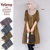 Baju Tunik Wanita Terbaru Cotton Garis Gothic Yelena