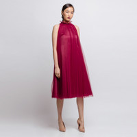 Cloth Inc x Stella Lunardy Pleated Tulle Halter Dress