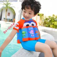 Baju Renang Motif Kartun Dengan Pelampung untuk Anak Laki-Laki