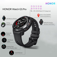HONOR Watch GS PRO Smartwatch GPS Bluetooth Call Sport AMOLED RESMI