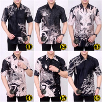 Hem Batik Pria Seragam Kemeja Batik Hitam Manis Batik Modern Murah