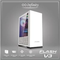 Casing PC INFINITY FLASH V3- Include 1 Pc Fan Slim Ring AUTO RGB