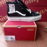 sepatu vans original sk8 hi Tapered black / true white size 42