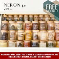 Grinn living Neron glass Bamboo jar 250 ml Toples bambu