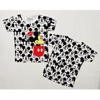 Baju Kaos Anak Cowok Karakter Mickey Mouse 4 - 9 Tahun Katun Combed