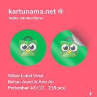 Cetak Stiker Label Kemasan Produk Makanan Minuman Bahan Vinyl Anti Air