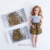 baju barbie fashionista. rok/skirt ori mattel. Motif macan
