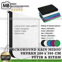 Midio Background Photo Studio ukuran 200 x 300cm ( PUTIH dan HITAM )