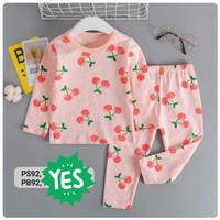 Piyama Import Anak Lengan Panjang Baju Tidur Anak Perempuan Cherry - 85 7-8 tahun
