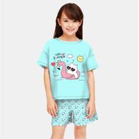 baju setelan anak perempuan komik snoopy umur 6-12 tahun/ baju komik