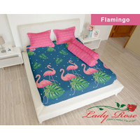 Sprei Lady Rose 200x200 Extra King terlaris Flamingo