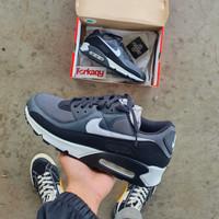 Sepatu Nike Air Max 90 - Black/White/Grey