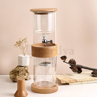Latina Dutch Double Wall Cold Drip Brew Tower 420 ml Wooden Frame