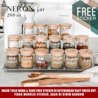 Grinn living Neron glass jar 200 ml Toples bambu