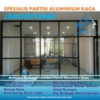 Partisi Ruangan Aluminium dan Kaca