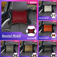 Bantal Mobil Premium Synthetic Leather (Headrest)