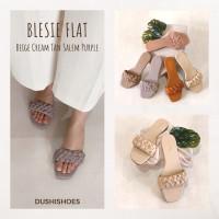 Blesiee - Sandal kepang wanita flat