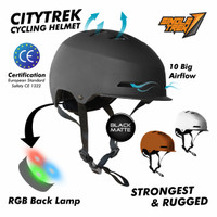 Helm sepeda Topi - High Quality - Bisa dilepas & dicuci - merah