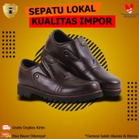Sepatu Boots Safety Pendek Kulit Pria Cowok Murah BLUCRAT PLANKTON