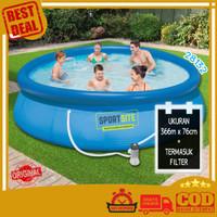 Intex Easy Set Swim Pool 12 FT Kolam Renang Bulat Karet Keluarga