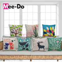 Sarung Bantal Sofa 45 x 45cm Kanvas Linen Motif Pillow Cover