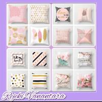 Sarung Bantal Sofa Motif Sofa Pillow Cushion Pink Series 45 x 45