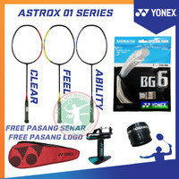 YONEX ASTROX 01 CLEAR / FEEL / ABILITY RAKET BADMINTON ORIGINAL