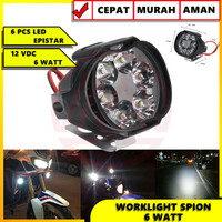 LAMPU SOROT SPION LAMPU TEMBAK SPION LED SPION CREE MOTOR 6 WATT 6 LED