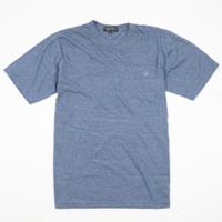 Kaos Polos Cotton Combed Misty CVC Biru Jeans Premium Quality