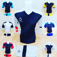 Baju Futsal Jersey Volly Kaos Bola Setelan Olahraga Voli Ortuseight ST - Putih, M