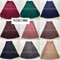 ROK PLISKET ANAK / ROK PLISKET PREMIUM / ROK FASHION / ROK ANAK - Hitam, S