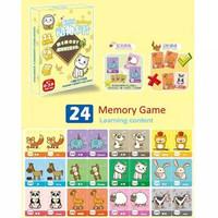 Memory matching flash card game toddler kids baby kartu mainan menging