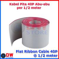 Flat Cable / Kabel Pita 40p Abu - Abu IDC 40 pin @ 0,5 Meter
